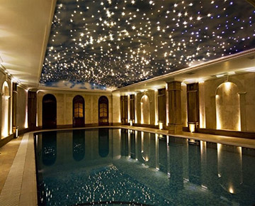 Fiber Optic Star Light Above Swimming Pool2