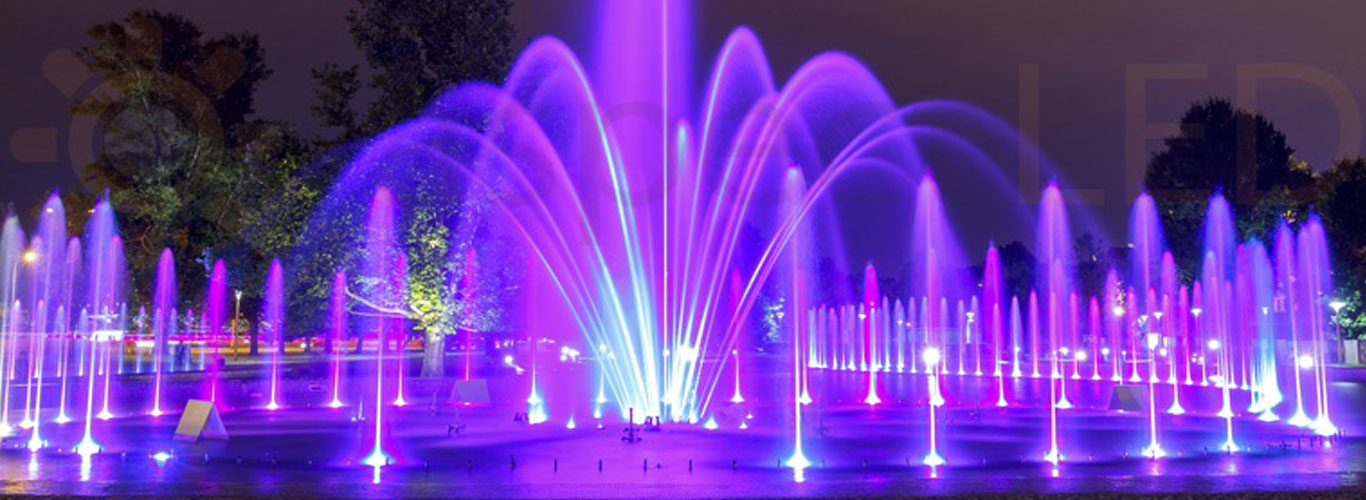 Fountain nozzle led lights